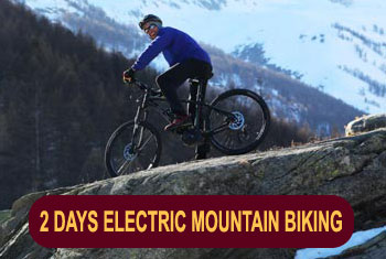 Electric mountain biking in the French Alps